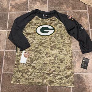 Nike Green Bay Packers Salute to Service Camo Tee